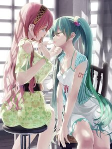 Rating: Safe Score: 95 Tags: ass cleavage dress hatsune_miku megurine_luka okingjo tattoo vocaloid User: Mr_GT