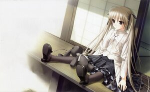 Rating: Safe Score: 80 Tags: detexted fixed hashimoto_takashi kasugano_sora pantyhose sphere yosuga_no_sora User: junfeng505