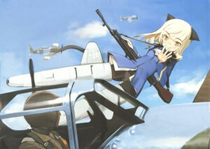 Rating: Questionable Score: 28 Tags: pantsu pantyhose perrine-h_clostermann shimada_humikane strike_witches User: the_redstar_swl
