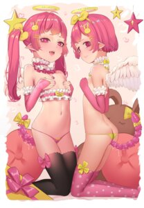 Rating: Explicit Score: 47 Tags: anal angel ass breast_hold hk_(artist) loli no_bra pantsu pointy_ears pussy_juice tail thighhighs topless wings User: yanis