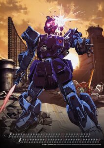 Rating: Safe Score: 9 Tags: calendar gundam gundam_side_story:_the_blue_destiny mecha naka_morifumi rx-79bd-1_gm_blue_destiny_unit_1 sword User: Radioactive