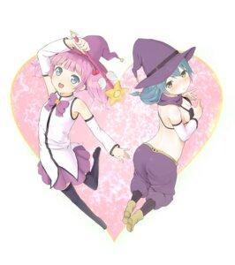 Rating: Safe Score: 14 Tags: furutani_himawari shouin thighhighs witch yoshikawa_chinatsu yuru_yuri User: ddns001