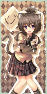 Rating: Safe Score: 31 Tags: animal_ears dreamlight2000 neko nekomimi seifuku tail User: fairyren