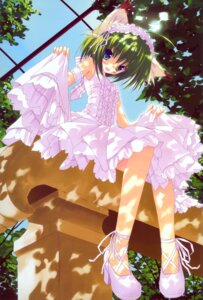 Rating: Safe Score: 15 Tags: animal_ears dress greenwood heels lolita_fashion midori nekomimi skirt_lift tsurusaki_takahiro User: marechal