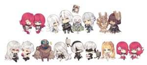 Rating: Safe Score: 21 Tags: armor bandages chibi devola dress k.ll kaine_(nier) mecha megane nier_automata nier_replicant popola thighhighs yorha_no.2_type_b yorha_no._9_type_s yorha_type_a_no._2 User: mash