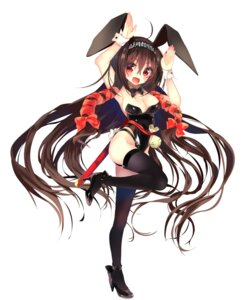 Rating: Safe Score: 32 Tags: amakawa_sakko animal_ears bunny_ears bunny_girl cleavage heels kuji_kanesada stockings tail tenka_hyakken thighhighs User: zyll
