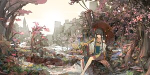 Rating: Safe Score: 77 Tags: hakurei_reimu landscape sakura_sora touhou User: Mr_GT