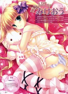 Rating: Questionable Score: 63 Tags: ass cameltoe dress mikeou pantsu shimapan stockings thighhighs User: Twinsenzw