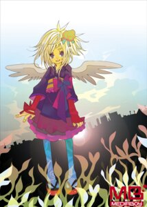 Rating: Safe Score: 5 Tags: japanese_clothes tagme watermark wings User: Radioactive