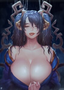 Rating: Questionable Score: 46 Tags: breasts cleavage instant-ip league_of_legends open_shirt sona_buvelle wet User: Mr_GT