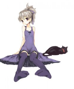 Rating: Safe Score: 19 Tags: darker_than_black dress mao_(darker_than_black) neko pantsu thighhighs u_(the_unko) yin User: Lore