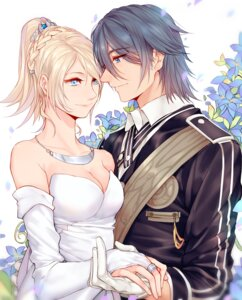 Rating: Safe Score: 19 Tags: cleavage dress final_fantasy_xv lunafreya_nox_fleuret noctis_lucis_caelum wedding_dress yorukun User: mash