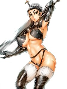 Rating: Questionable Score: 18 Tags: armor bikini_armor cleavage jyoka sword thighhighs underboob User: ferkunxd