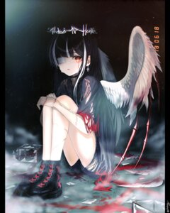 Rating: Safe Score: 18 Tags: angel blood dopoing eyepatch torn_clothes wings User: Dreista