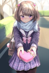Rating: Safe Score: 66 Tags: pantyhose seifuku umeno_(shio1205) valentine User: Mr_GT