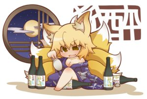 Rating: Safe Score: 5 Tags: animal_ears chibi cleavage gurageida tail touhou yakumo_ran yukata User: Radioactive