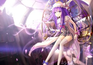 Rating: Safe Score: 56 Tags: hc patchouli_knowledge thighhighs touhou User: KazukiNanako