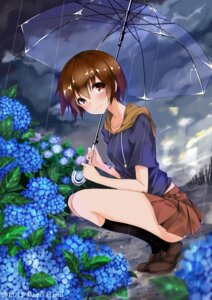 Rating: Safe Score: 32 Tags: akari_ajisai miyanaga_saki official_watermark saki saki:_zenkoku-hen umbrella User: mattiasc02