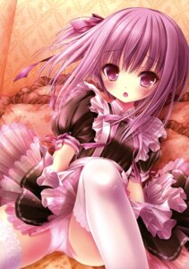 Rating: Questionable Score: 103 Tags: maid minato_tomoka pantsu ro-kyu-bu! thighhighs tinkle User: Twinsenzw
