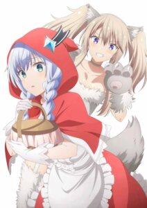 Rating: Safe Score: 17 Tags: animal_ears big_bad_wolf cosplay dress little_red_riding_hood_(character) maou_gakuin_no_futekigousha misha_necron sasha_necron tagme tail User: Spidey