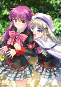 Rating: Safe Score: 13 Tags: futaki_kanata little_busters! noumi_kudryavka sato-pon seifuku thighhighs User: fairyren