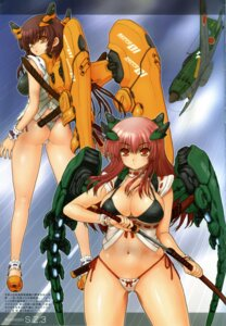 Rating: Questionable Score: 20 Tags: bikini cleavage mecha_musume swimsuits sword s.z.3 User: YamatoBomber