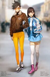 Rating: Safe Score: 45 Tags: d.va megane overwatch thighhighs tracer yang-do User: Mr_GT