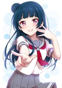 Rating: Safe Score: 53 Tags: love_live!_sunshine!! seifuku sekina tsushima_yoshiko User: Radioactive