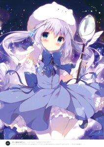Rating: Safe Score: 90 Tags: animal_ears bunny_ears dress gochuumon_wa_usagi_desu_ka? kafuu_chino pantyhose shiratama shiratamaco tippy_(gochuumon_wa_usagi_desu_ka?) weapon User: Twinsenzw