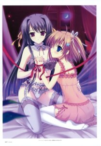 Rating: Questionable Score: 82 Tags: bra garter_belt lingerie naruse_mamoru pantsu stockings thighhighs yuri User: crim