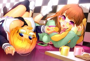 Rating: Questionable Score: 47 Tags: cleavage erect_nipples girl's_avenue megane thighhighs tsuji_santa User: Elow69