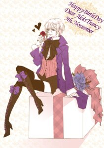 Rating: Safe Score: 7 Tags: alois_trancy crossdress kuroshitsuji male natsuxka thighhighs User: Morbidangel