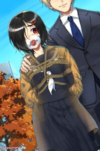 Rating: Questionable Score: 11 Tags: bondage business_suit ryou@ryou seifuku User: Mr_GT