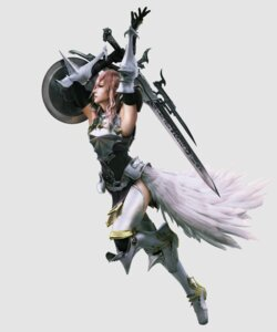 Rating: Safe Score: 22 Tags: armor cg final_fantasy final_fantasy_xiii final_fantasy_xiii-2 lightning square_enix sword thighhighs User: Izuna