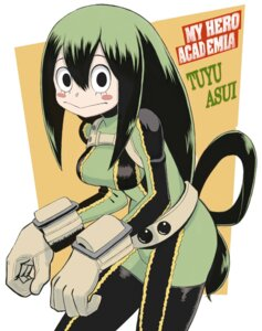 Rating: Questionable Score: 12 Tags: asui_tsuyu bodysuit boku_no_hero_academia okitsugu User: ferkunxd
