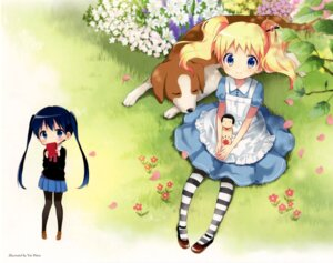 Rating: Safe Score: 53 Tags: alice_cartelet hara_yui kin'iro_mosaic komichi_aya pantyhose User: Twinsenzw