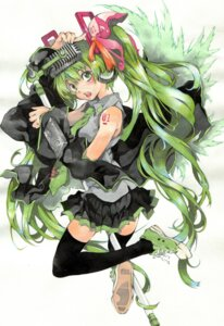 Rating: Safe Score: 12 Tags: hatsune_miku headphones issun_boushi thighhighs vocaloid User: jjj14