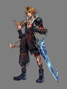 Rating: Safe Score: 21 Tags: armor dissidia_final_fantasy final_fantasy final_fantasy_x male nomura_tetsuya square_enix sword tidus transparent_png User: Lua