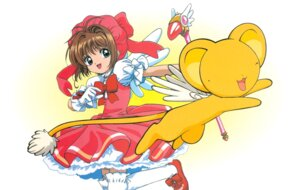 Rating: Safe Score: 3 Tags: card_captor_sakura dress kero kinomoto_sakura madhouse tagme thighhighs weapon wings User: Omgix
