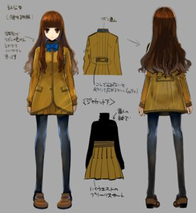 Rating: Safe Score: 19 Tags: character_design fate/extra fate/stay_night female_protagonist_(fate/extra) kishinami_hakuno pantyhose seifuku wada_rco User: Yokaiou