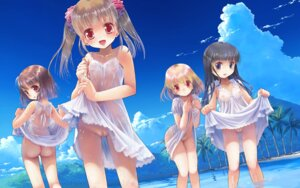 Rating: Explicit Score: 70 Tags: ass bra dress loli nipples no_bra nopan photoshop pussy see_through skirt_lift summer_dress uncensored wallpaper wet wet_clothes yuuro User: BattlequeenYume