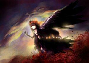 Rating: Safe Score: 27 Tags: akemi_homura puella_magi_madoka_magica shouhou wings User: Brufh