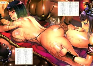 Rating: Questionable Score: 85 Tags: ass bikini_top cleavage f.s fishnets menace queen's_blade scanning_artifacts setra sling_bikini swimsuits thong wet yuri User: ViBaYo