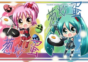 Rating: Safe Score: 8 Tags: chibi crossover hatsune_miku hinamori_amu ranyun seifuku shugo_chara vocaloid User: Radioactive