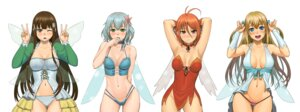 Rating: Questionable Score: 70 Tags: amagi_brilliant_park bikini cleavage kobori lasterk muse_(amagi_brillant_park) nopan salama swimsuits sylphy wings User: gnarf1975