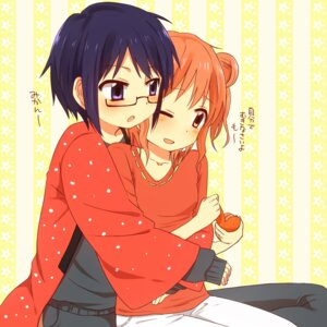 Rating: Safe Score: 10 Tags: hidamari_sketch hiro megane orange_(artist) sae User: Nekotsúh