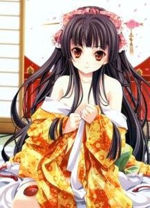 Rating: Questionable Score: 73 Tags: japanese_clothes kimono miyama-zero nipples nipple_slip no_bra undressing User: midzki