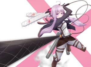 Rating: Safe Score: 40 Tags: chainsaw cosplay gasaki shingeki_no_kyojin vocaloid weapon yuzuki_yukari User: Sanderu