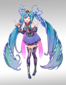 Rating: Safe Score: 11 Tags: hatsune_miku jeyu thighhighs vocaloid User: Mr_GT