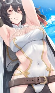 Rating: Safe Score: 49 Tags: animal_ears cleavage fishnets granblue_fantasy hews ilsa_(granblue_fantasy) megane User: RyuZU